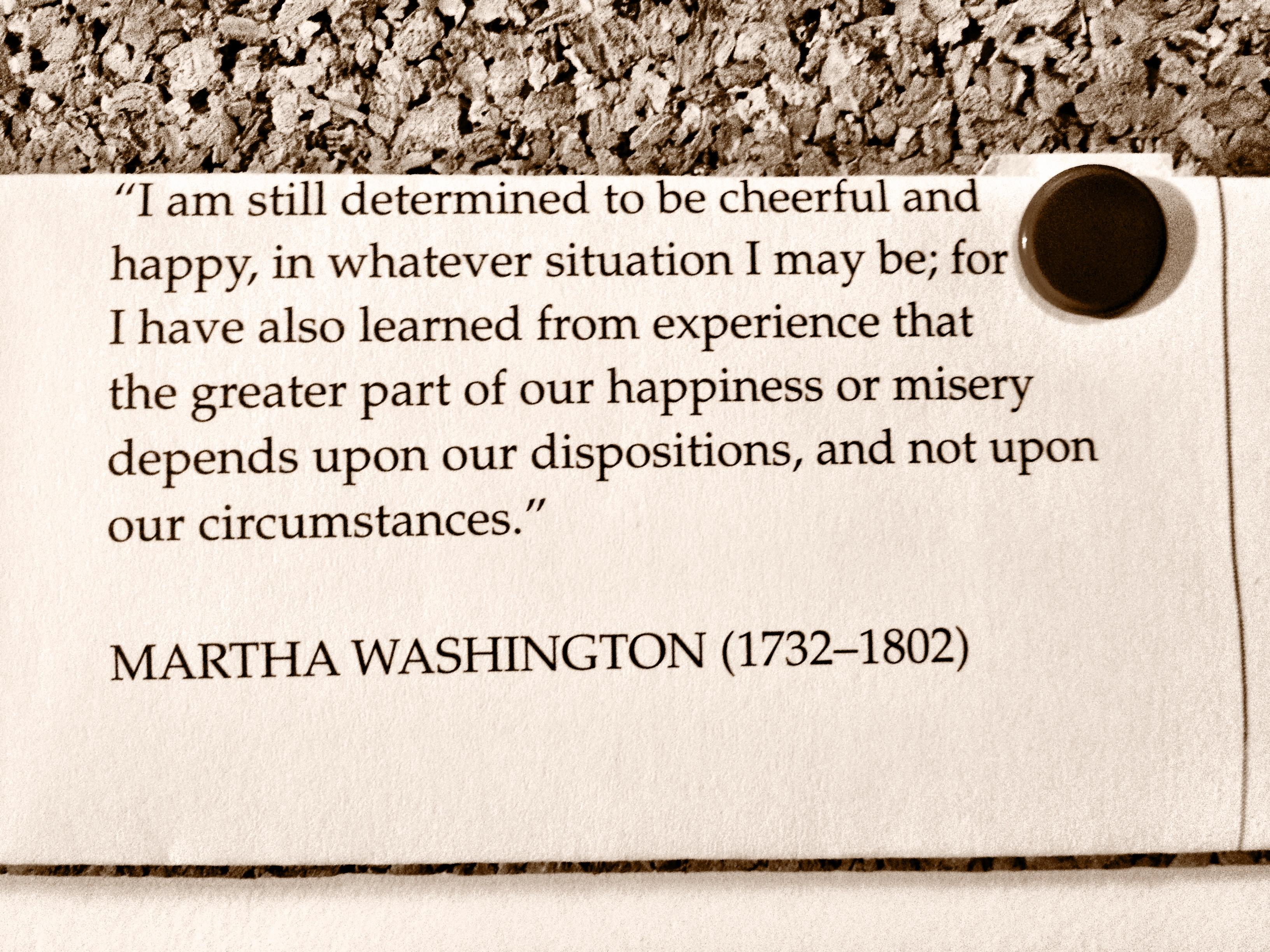 George Martha Washington Quote